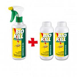 Set BIOKILL | Insetticida antiparassitario con erogatore da 500ml + 2 ricariche da 1lt
