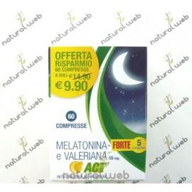 Melatonina Forte 1 Mg. 5 Complex e Valeriana - Favorisce Il Sonno