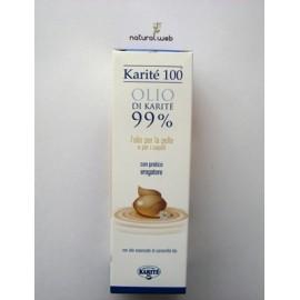 Karitè 100 Olio di Karitè 99% con Erogatore | ideale per Pelle e Capelli Secchi