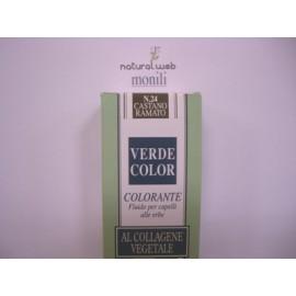 MONILI Verde Color | Tinta per Capelli alle Erbe Castano Ramato Nr.24