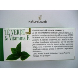 Pharmalife Crema-Pomata Te verde & Vitamina E   Per il Benessere Idrolipidico della Pelle