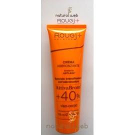 Rougj Crema Abbronzante Attiva Bronz + 40 | Idratante e Protettiva
